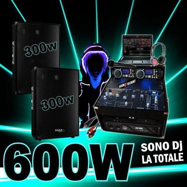 Ibiza Sound Pack dj avec 2 enceintes 300w - ampli 500w - double cd - mixage - micro - casque dj -sono complète
