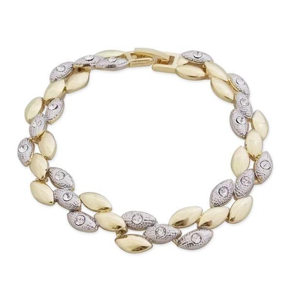 Totalcadeau - Bracelet aux amandes argentées et dorées bijou fantaisie pas  cher Acier 669a5846abd