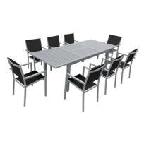 Soldes Table jardin aluminium rallonge papillon - 2e démarque Table ...