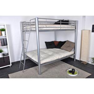 neg 39 import lits superpos s 140x190 cm en m tal argent hercul pas cher achat vente. Black Bedroom Furniture Sets. Home Design Ideas