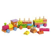 WOOD N PLAY - Locomotive + 2 wagons en bois