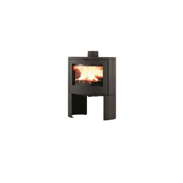 supra poele a bois noir rond chauffe plat b ches de 50 cm pas cher achat vente. Black Bedroom Furniture Sets. Home Design Ideas