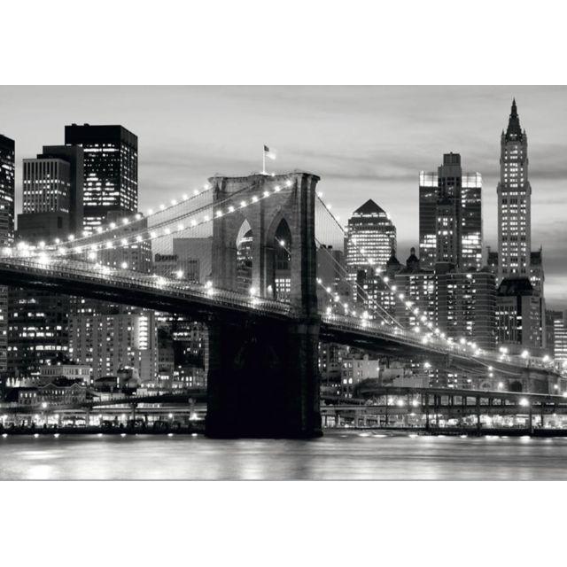 Bebe Gavroche Papier Peint New York Brooklyn Bridge Noir & Blanc 360x270 cm