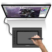 Yonis - Tablette graphique 12 pouces digitale dessin 3D stylet sans fil noir