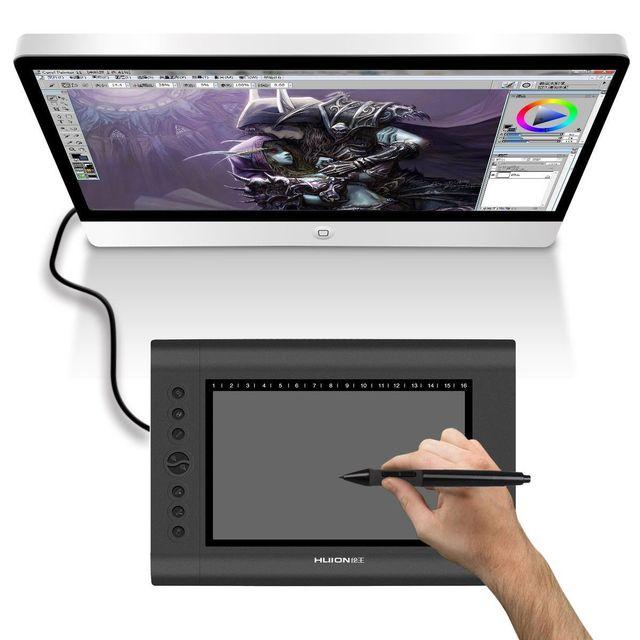 Yonis Tablette graphique 12 pouces digitale dessin 3D stylet sans fil noir