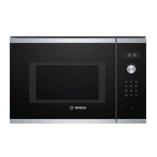 Bosch micro-ondes grill encastrable 25l 900w inox - bel554ms0