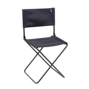 lafuma chaise de jardin pliante compacte en acier et toile cno acier noir pas cher achat. Black Bedroom Furniture Sets. Home Design Ideas