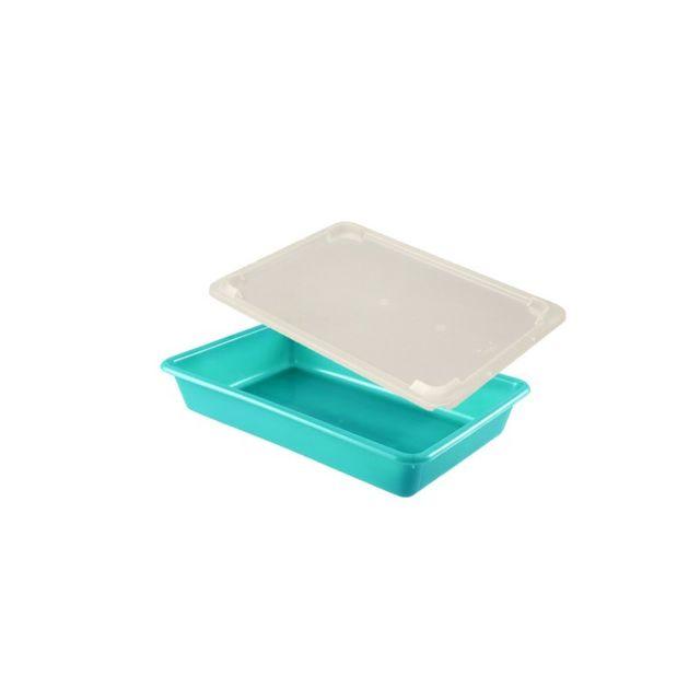 Gilac Bac Plat Alimentaire 3 Litres Vert et Couvercle Transparent