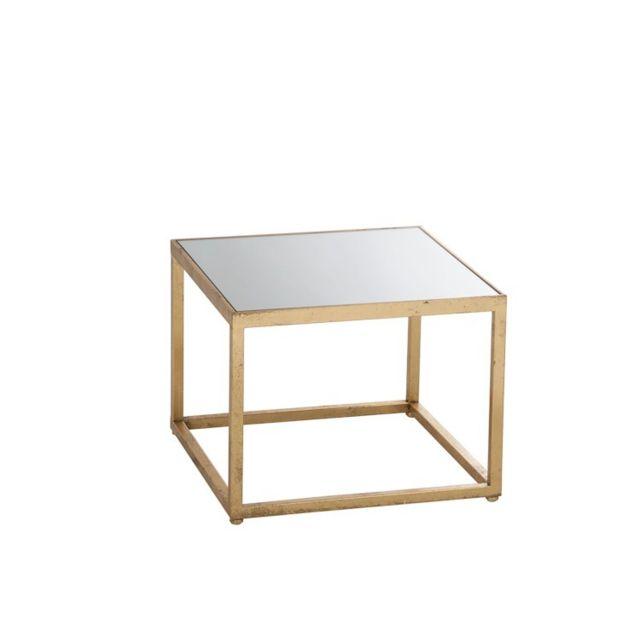 La Chaiserie Table d'appoint design en verre et métal doré