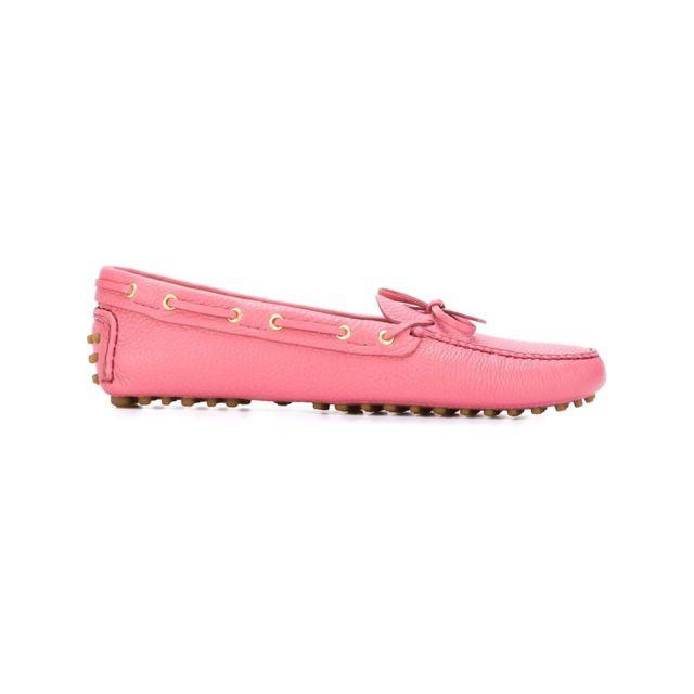 Car Shoe Femme Kdd006F0053D7QF0638 Rose Cuir Mocassins