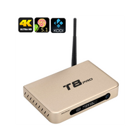 Auto-hightech - Smart Box tv android Quad Core 2 Go de Ram, Android 5.1, Kodi 16, Résolutions 4K Airplay, Dlna, 3 ports Usb Gold