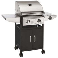 Tristar - Barbecue à gaz inox 2 feux 9400W Bq6311