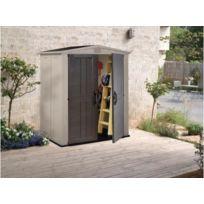 Châlet & Jardin - Abri de jardin resine 2m² - Factor 63 double porte