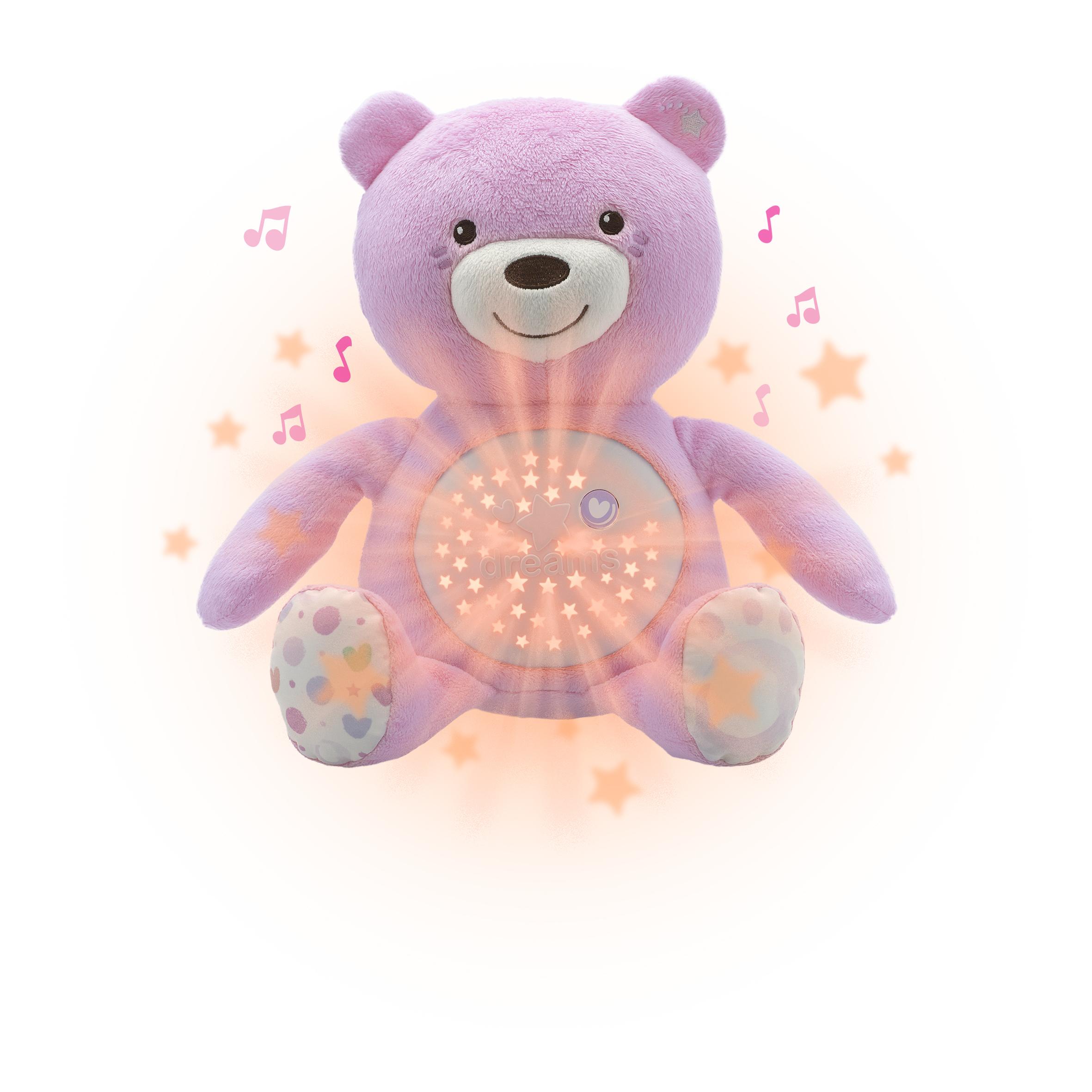 Ourson Projecteur Baby Bear Rose - 8015100000
