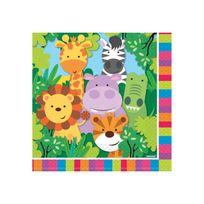 Amscan International - Serviettes animaux de la jungle x20