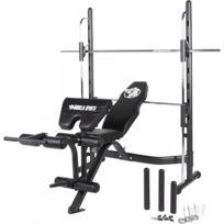 Gorilla Sports - Banc de musculation multifonctions avec barre guidée