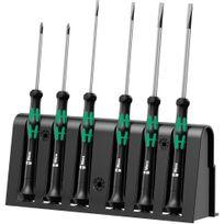 Wera Tools - 2035/6 A Jeu de tournevis électronicien + Rack, 6 pièces - 05118150001