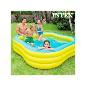 Intex piscine gonflable family multicolore pas cher for Objet gonflable piscine