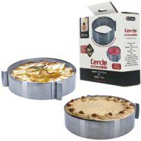 Promobo - Cercle Extensible Patisserie Gateau En Inox 8,5cm à 15 cm