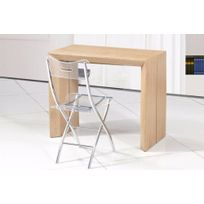table console extensible bois massif - achat table console