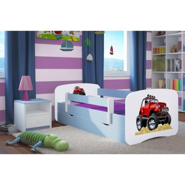 carellia lit enfant roadster 70 cm x 140 cm avec. Black Bedroom Furniture Sets. Home Design Ideas