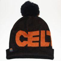 Celtek - Bonnet pompon Rag against the pompon noir et orange