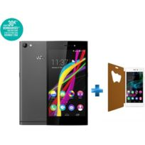 WIKO - Highway Star Gris + Etui blanc pour Highway Star 4G