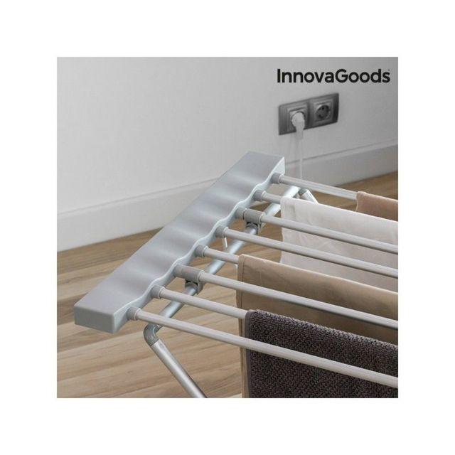 Étendoir à Linge Électrique Pliable InnovaGoods 120W Gris 8 Barres
