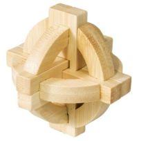 Fridolin - 17495 - Puzzle - Casse Tête Bambou - Double Disque - Niveau 3 Dilemme