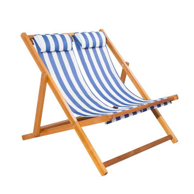 mega garden chilienne double pliante en bois pas cher achat vente transats chaises longues rueducommerce - Chilienne Pas Cher