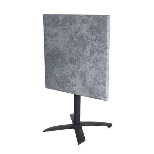 Gecko Jardin - Salon Oglio Béton table pliante alu + 2 chaises ...