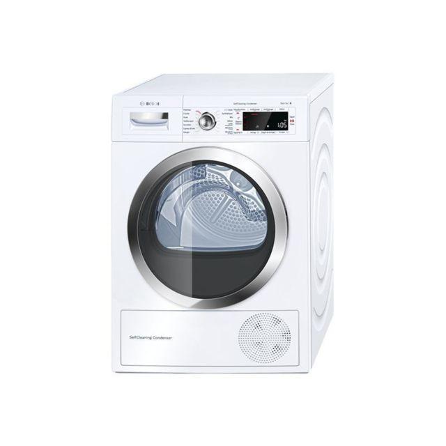Bosch WTWH7590FF Seche-Linge Bosch Frontal a Condensation S8.9kgClasse d'efficacite energetique:Classe A++Consommation d'energie annuelle:259 kWhCapacite maximale de sechage:9 kg - Capacite de sechage du tambour:112 litresDimensions (LxPxH):59.8 cm x 65.2