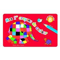 Petit Jour Paris - Crayons 8 crayons de couleur Elmer : Jumbo