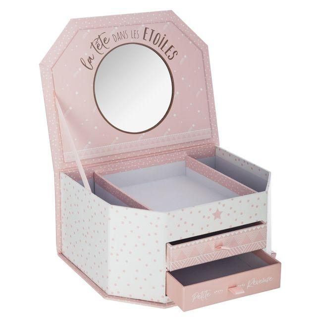 atmosphera boite bijoux miroir pas cher achat vente coffrets pr sentoirs rueducommerce. Black Bedroom Furniture Sets. Home Design Ideas