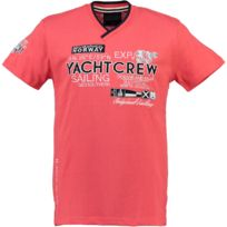 Geographical Norway - Tshirt Homme Jimono Corail