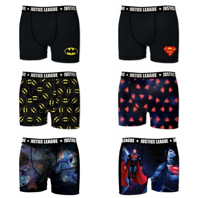 Dc Comics Lot de 6 Boxers Homme Justice League