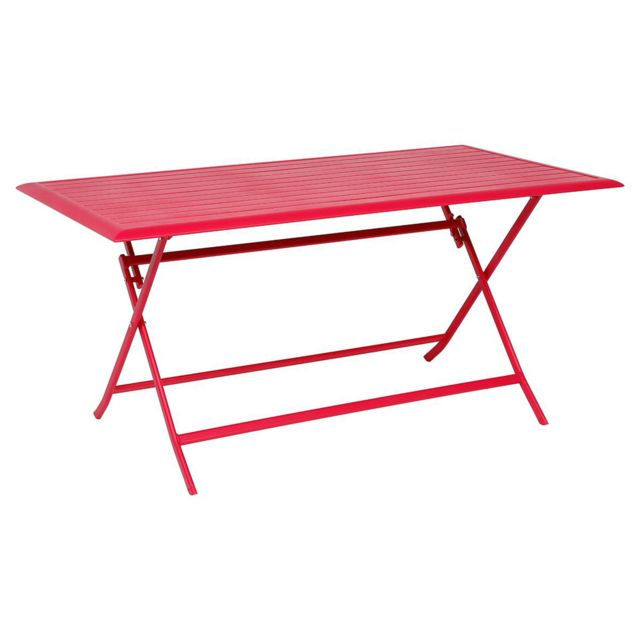 Hespéride - Table pliante Azua - 6 Places - Cerise 80cm x 150cm x 71cm