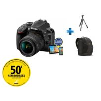 NIKON - Pack Amateur -D3400-AFP-18-55-VR + Trépied Manfrotto 290 + Sac à dos