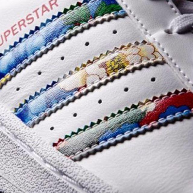 Adidas originals - Chaussures Superstar White/Flower W e17