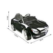 MERCEDES BENZ - Mercedes-Benz SLK voiture véhicule électrique pour enfants 6 V 3-4 Km/h phares musique télécommande noir 02BK