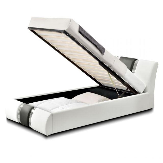 meubler design lit coffre design atlantics 90x190 blanc 180cm x 200cm pas cher achat. Black Bedroom Furniture Sets. Home Design Ideas