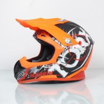 8e3b66dc104 Torx - Casque moto cross enduro Marvin Eyes Neon Orange Red Mat Taille L  rouge