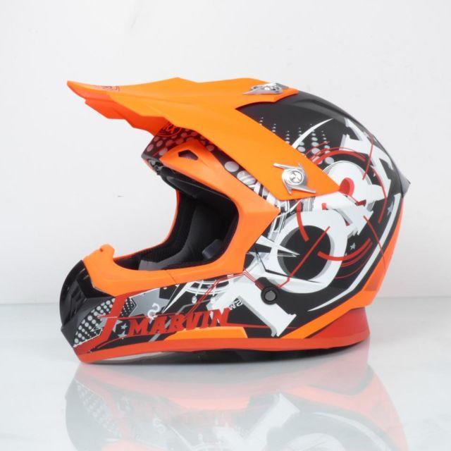 Torx Casque Moto Cross Enduro Marvin Eyes Neon Orangered Mat