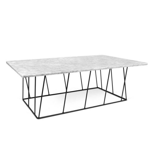 Inside 75 Table basse Helix 120 en marbre blanc