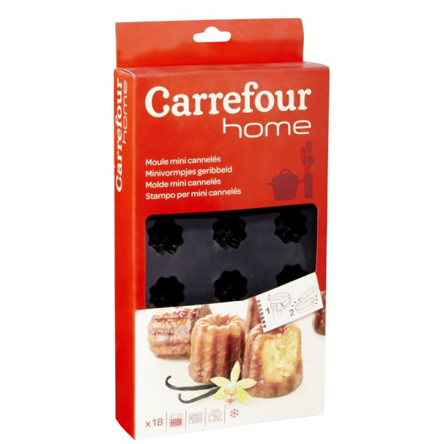 Carrefour Plaque De 18 Moules à Mini Cannelés Silicone