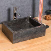 Wanda Collection - Vasque salle de bain à poser Milan rectangle 30cm x 40cm Noir