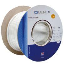 Omenex - Bobine câble Rj45 a sertir catégorie 5 Ftp droit 25m blanc