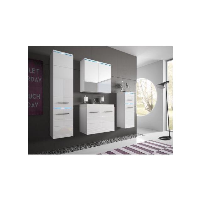 Shower Design Ensemble Clemence à leds - meubles de salle de bain - laqué blanc