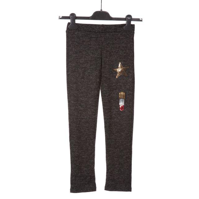 Doucel Pantalon Couleur noir, Taille Enfant 6 ans