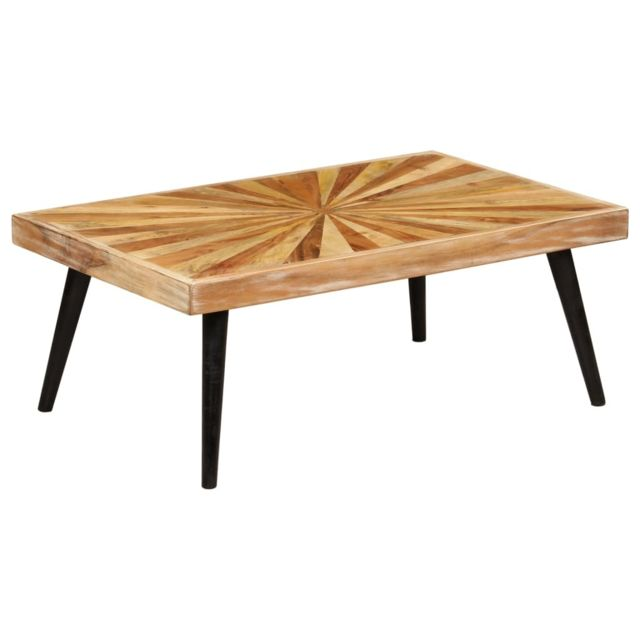 Vidaxl Table Basse Bois de Manguier Massif Table Canapé Table d'Appoint
